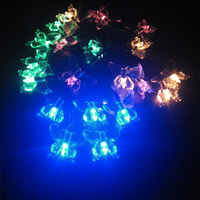 YIYANG Butterfly Solar LED Outdoor Lighting String Lamps Garden Decoration La luz Solar Christmas Lights Wedding 4.8m 20leds(China)