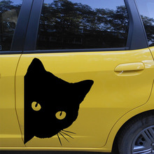 43cmx43cm Cat Face Whisker Peeking Art Cute Pet Animal Cartoon Images Car Sticker for For All Car Styling Decoration Vinyl Decal