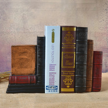 Vintage Fake Book Dictionary Bookends Home Furnishing ornaments birthday gift study bookcase Decor Book utility