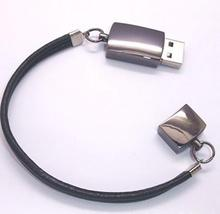 Free DHL shipping cost: 100pcs 16GB Metal bracelet usb flash drive wrist band flash pendrive real memory