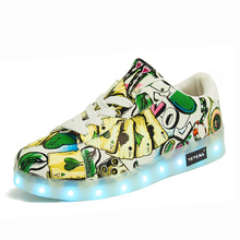 Eur27-40 // USB Charger Lighted shoes for Boy&Girl glowing sneakers Kids Light Up Casual Luminous Shoes Sneakers with
