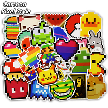 25 Pcs Cartoon Pixel Style Stickers for Laptop Luggage Motorcycle Car Styling Home Decor Decal Personality Waterproof Sticker(China)