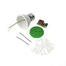 Free Shipping New Energy-Saving 38 LEDs Lamps DIY Kits Electronic Suite 1 Set
