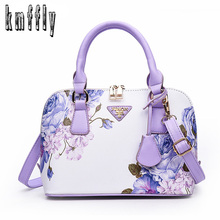 Printing Floral Fashion Women Bag Brand Shell Leather Bags Women Handbags Designer Summer Shoulder Bags Sac A Main Femme 2017(China)
