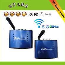 5.8G Wireless AV Sender TV Audio Video Transmitter Receiver IR Remoter Extender Original adapter PAT530,Wholesale Free Shipping