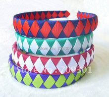 Wholesale 3/4 Inch Colorful  Woven Headbands Woven Hairbands Headbands 40Pcs Free Shipping