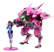 Game Hero Hana Song D.VA with Mecha PVC Action Figure Collectible Model Toy 24cm
