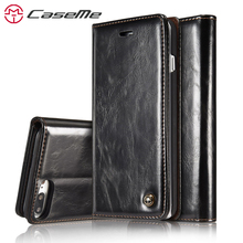 Buy CaseMe iPhone 7 7 Plus Luxury Retro Leather Stand Flip Card Slot Wallet Phone Cases Cover Back Case iPhone7 7Plus for $7.99 in AliExpress store