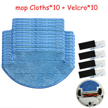 20pcs/set Xiaomi Mi Robot Vacuum Cleaner  Parts kit ( mop Cloths*10+Velcro*10)