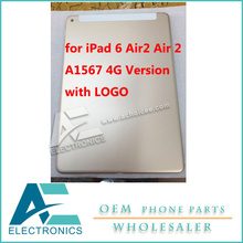 Housing Back Cover for iPad 6 Air2 Air 2 A1567 4G Version 3G Model Body with LOGO Free Shipping
