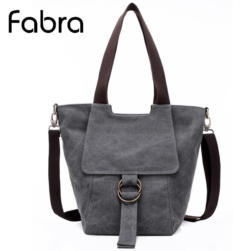 Fabra New Casual Canvas Handbags Solid Crossbody Shoulder Hobo Tote Bag Vintage Women Messenger Bags 23*21*36 cm<br><br>Aliexpress