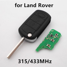 Flip Remote Key for Land Rover RANGE ROVER LR DISCOVERY 3 Buttons 315 / 433MHz with PCF7935 Chip Keyless Entry Car Alarm