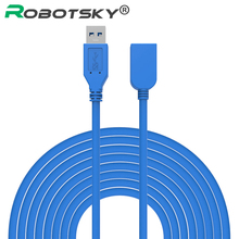 5M USB 3.0 Male to Female Extension Cable USB 3.0 Data Sync Fast Speed Cord Connector for Phone Laptop PC Printer Hard Disk(China)