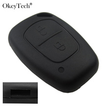 Okeytech 2 Button Remote Car Key Shell Case Fob Cover For Renault Traffic Master Vivaro Movano Kangoo For Nissan No Blade(China)