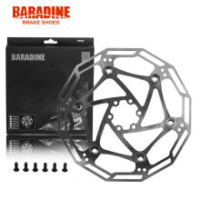 Baradine DB-08 Light Weight Stainless Steel high performance l Bike Floating Disc Brake Rotor 160mm 180mm 203mm 6-Bolt Silver