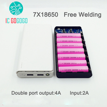 Free Welding 7S 5V 2A 2.5A Mobile Power Bank 7X18650 Battery DIY Kits Charger Circuit Board Step Up Boost Without Battery