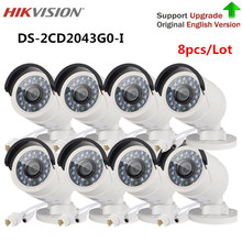 Hikvision security camera 4 MP IR Fixed Bullet IP Camera DS-2CD2043G0-I replace DS-2CD2042WD-I home video surveillance 8PCS/Lot