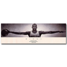 Michael Jordan Wings Art Silk Fabric Poster Print 13x42inch Basketball Sport Picture for Living Room Wall Decoration 066(China)