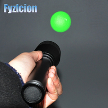 FyzlcionLong Distance ND3X 30 Flashlight Night Vision Green Laser Designator W Adjustable Scope Mount+ Momentary Pressure Button