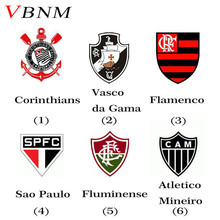 VBNM Brazil Football Club Badge Sport Souvenirs Usb Flash Drive 8GB Corinthians/Flamengo/Santos/palmeiras Team Logo(China)