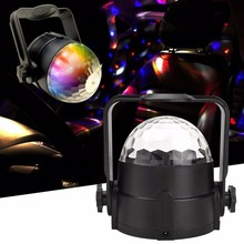New arrival!Voice Activated Stage Light Show Mini Disco Crystal Magic Ball Club KTV Wedding Show Car Pub Disco DJ Lighting