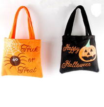 Tote Storage Bags Women Shoulder Handbags Happy Halloween Treat or Trick Pumpkin Bags Kids Halloween Sacks Candy Gifts Bag