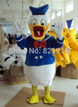 2015 Hot Sale Mascot Cartoon Costume Donald Duck Dress For Party Free Shipping(China)