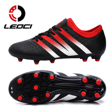 LEOCI Men Training Soccer Shoes FG AG Soccer Cleats Sneakers Boys Teenagers Adults Outdoor Football Boots