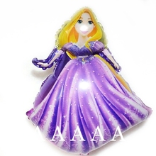 5pcs/lot Rapunzel princess foil mylar balloons girl happy birthday party decorations princess helium balloon