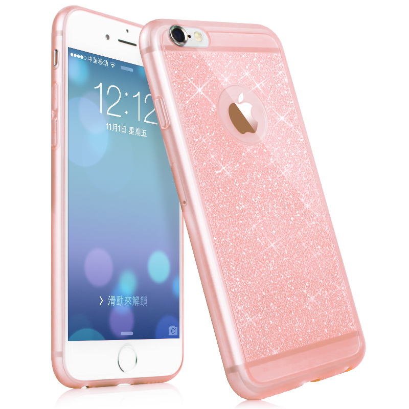 New luxury phone case iphone 5 5s 6 6s plus case mobile phone accessories TPU soft shining golden Bling cover apple
