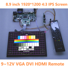 8.9 inch 1920*1200 IPS Display HDMI VGA DVI Driver Board LCD Panel Screen Module Monitor Laptop PC Raspberry Pi 3 Car