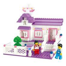BOHS Pink Girls My Home Sweet House Cottage Building Friends Blocks Dream Series Children Toys(China)