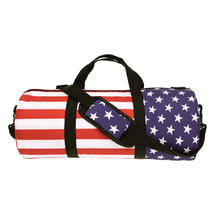 Outdoor Sport Soccer Basketball Training bags For Women Gym bag Fitness American flag Printing Shoulder Men Travel Duffle Bag(China)