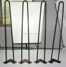 "28"" hairpin legs - matte black - 2 rods - set of 4 - hairpin metal legs for iron table, wooden furniture(China)"