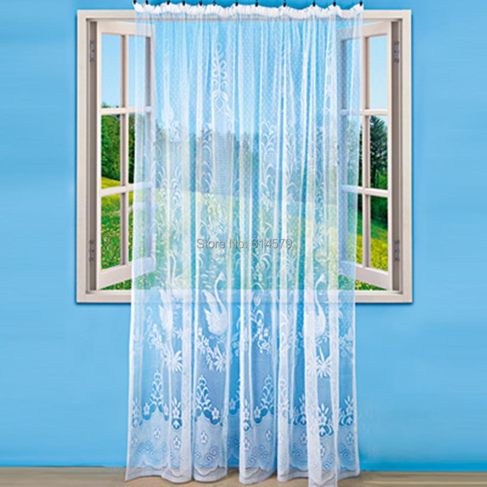 Curtains for shower window