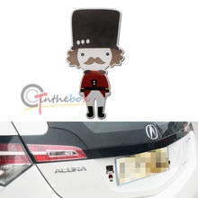 (1) JDM Style Cute British Soldier Sticker Reflective Decal For Cars SUV Trucks