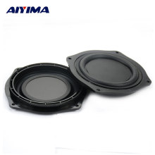 AIYIMA 2Pcs 4Inch Audio Speakers DIY Bass Speaker Vibrating Membrane Passive Bass Woofer Diaphragm Plate