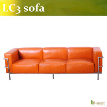U-BEST Le Corbusier Sofa /Comfortable leisure sofa/le corbusier lc3 modern leather sofa(China)