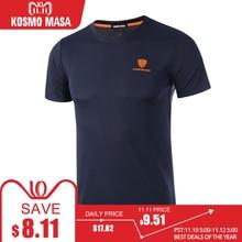 KOSMO MASA 2018 Men Quick Dry Breathable T-Shirt Spring Summer Fitness Hip Hop Short Sleeve T-Shirts Men's Jersey T Shirt MC0278(China)