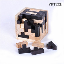 3D Puzzle Luban Interlocking Wooden Toys for Children IQ Brain Teaser Burr IQ Educational Kids Baby Toys Puzzles Brinquedos(China)