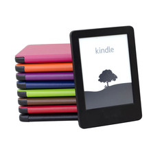 Magnet Leather Cover Case for Amazon New Kindle Touch Screen 2014 (Kindle 7th) Ebook Ereader 8 Colors + Protector + Stylus