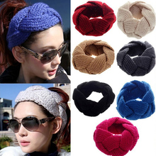 M MISM 8 Patterns Solid Knitted Headband High Quality Hair Accessories for Women Crochet Turban Head Wrap Girls Stretch Headwear(China)