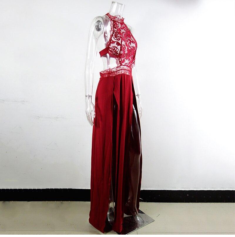 GACVGA Sexy Women Sleeveless Summer Dress Halter Neck Lace Crochet Evening Maxi Long Dress Backless Party Dresses Vestido 15