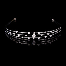 3pcs/lot The new rhinestone luxury wedding bride hoop crown headdress fashion hair ornaments factory direct wholesale