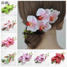 Bride Bridesmaid head hair hair clip Vacation Bohemian Butterfly Orchid Hairpins Women's Simulation flower hair clip MF64