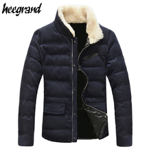 HEE GRAND New Arrival 2017 Hot-selling Men's Winter Coat Corduroy Inside Super Warm Jacket With Plus Size M-5XL Wholesale MWM341