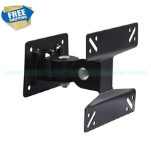 Dupport F01 Top Selling 14-24 inch 180 Degree Swivel Tilt LED LCD TV Wall Mount Bracket Monitor Holder(China)
