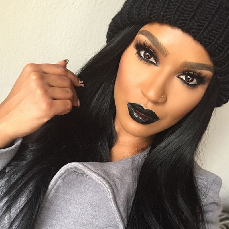 Straight Synthetic Lace Front Wigs For Black Women Long Lace Wig Synthetic Hair Glueless Elastic Adjustable Strap Three combs<br><br>Aliexpress