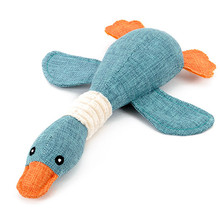 High Quality Plush Cartoon Ducks Pet Dog Squeak Toys  Solid Resistance To Bite Playable Dayan Sound Pet Toys
