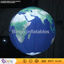 Free Shipping 1.2 Meters Giant LED inflatable earth balloon globe hot sale Oxford cloth blow up Earth models toys(China)
